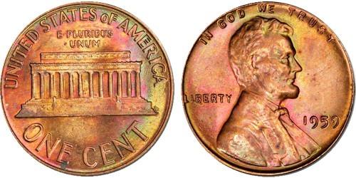 1 цент 1959 США