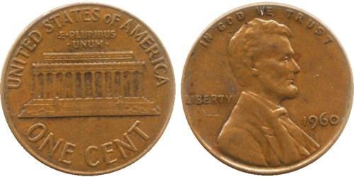 1 цент 1960 США