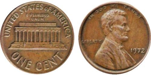1 цент 1972 США