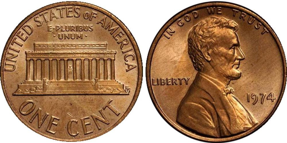 1 цент 1974 США