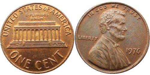 1 цент 1976 США