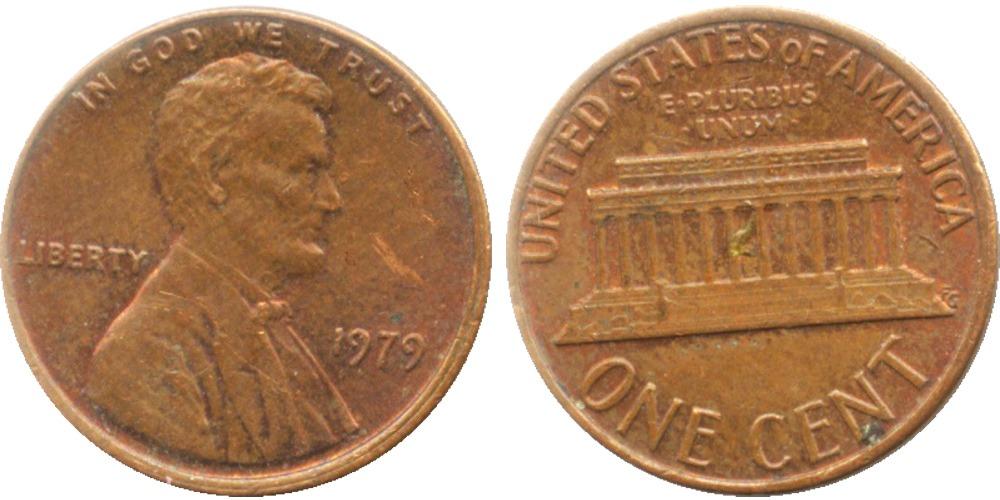1 цент 1979 США