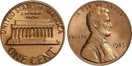 1 цент 1985 США