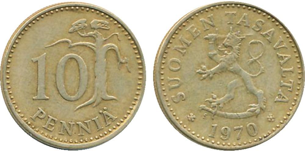 10 пенни 1970 Финляндия
