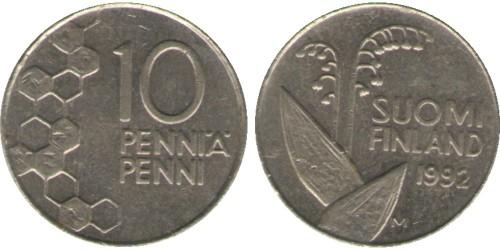 10 пенни 1992 Финляндия