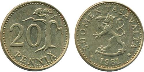 20 пенни 1981 Финляндия