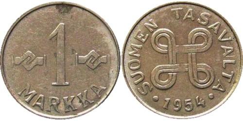 1 марка 1954 Финляндия