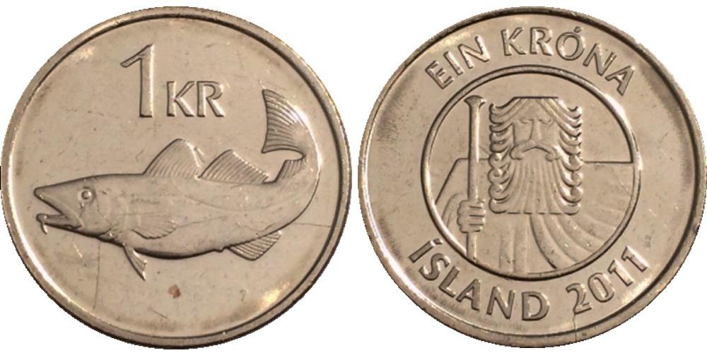 1 крона 2011 Исландия