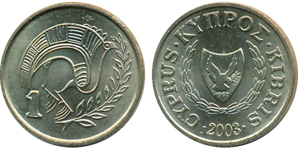 1 цент 2003 Республика Кипр