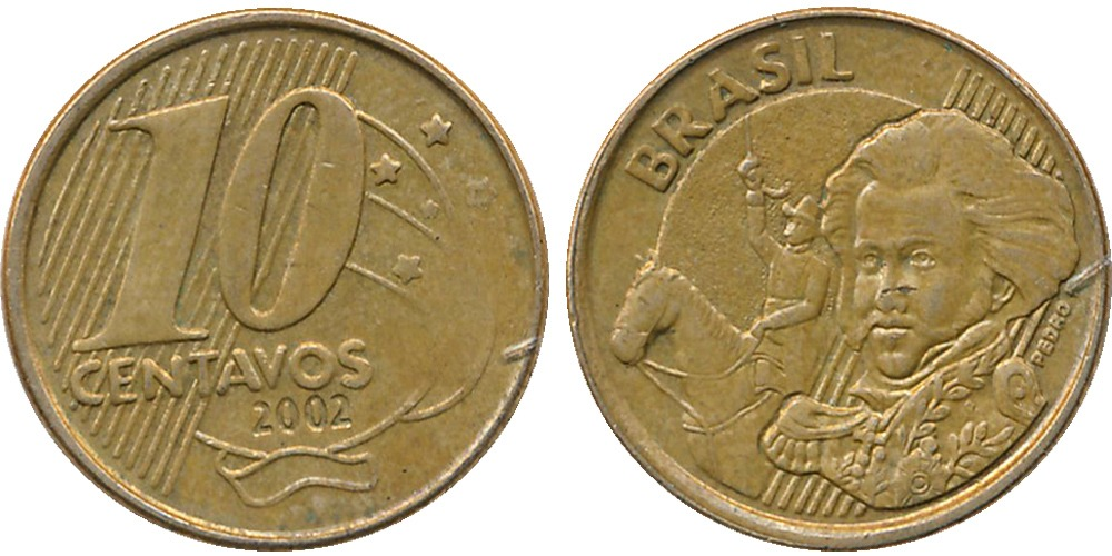 10 сентаво 2002 Бразилия