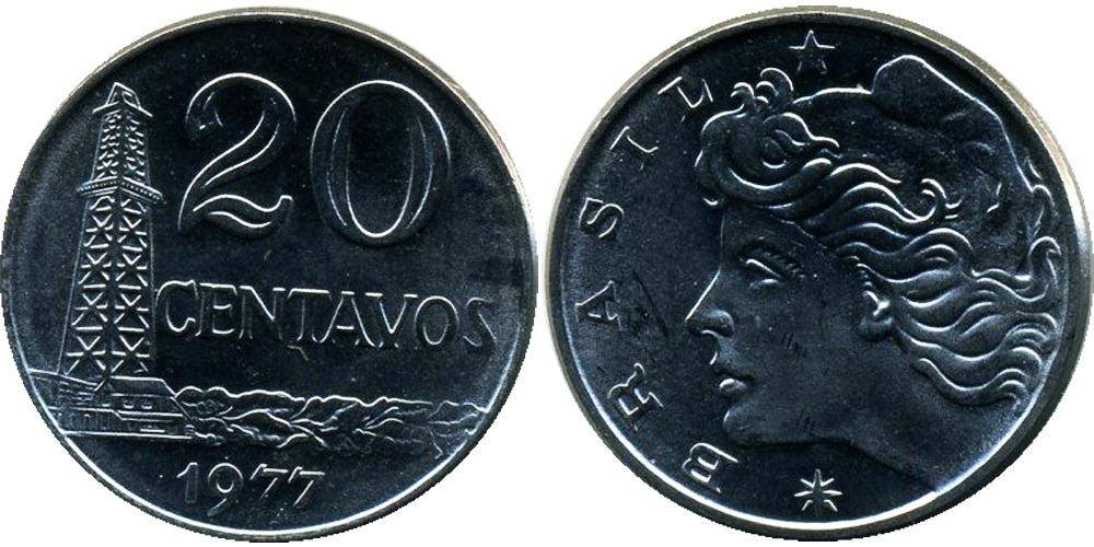 20 сентаво 1977 Бразилия