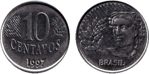 10 сентаво 1997 Бразилия