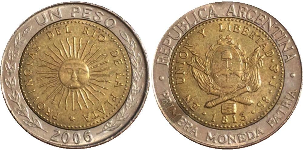 1 песо 2006 Аргентина