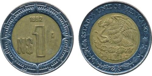 1 песо 1992 Мексика