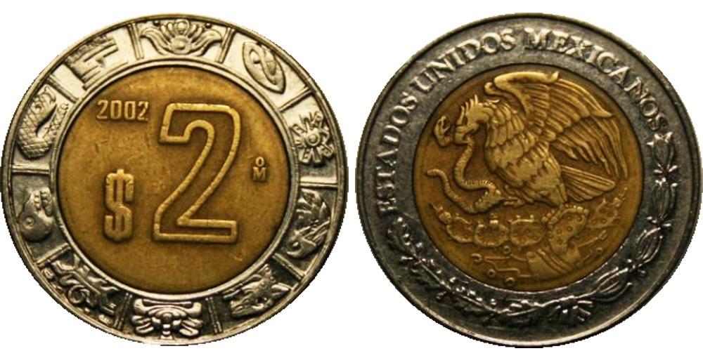 2 песо 2002 Мексика