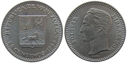 25 сентимо 1965 Венесуэла
