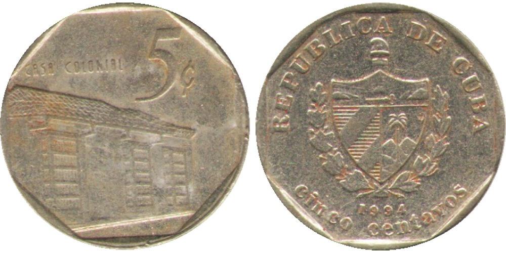 5 сентаво 1994 Куба