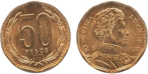 50 песо 2001 Чили