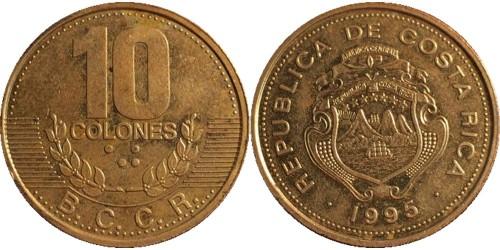 10 колон 1995 Коста Рика