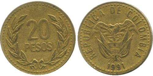 20 песо 1991 Колумбия