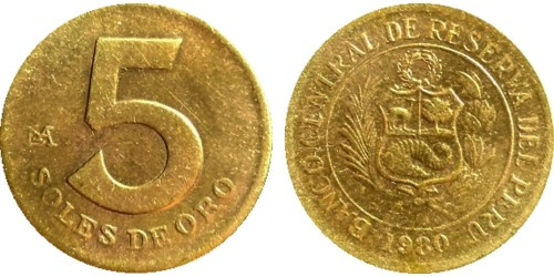 5 соль 1980 Перу