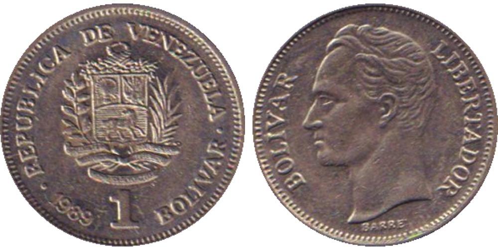 1 боливар 1989 Венесуэла