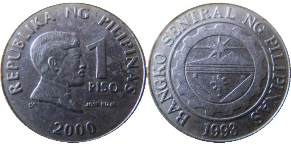 1 песо 2000 Филиппины
