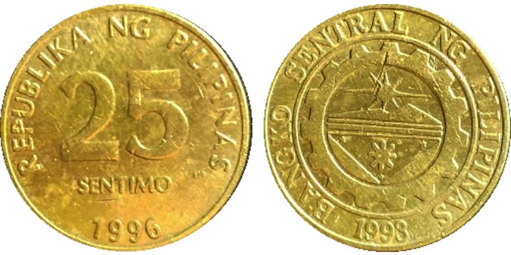 25 сантимов 1996 Филиппины