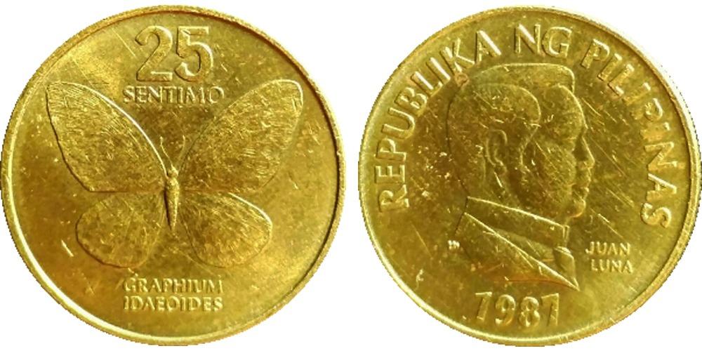 25 сантимов 1987 Филиппины