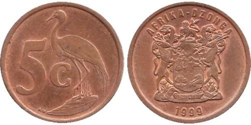 5 центов 1999 ЮАР