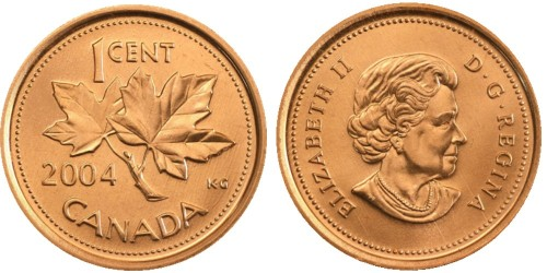 1 цент 2004 Канада