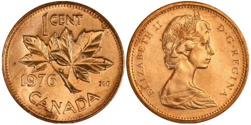 1 цент 1976 Канада