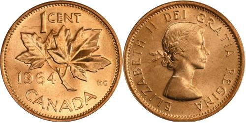 1 цент 1964 Канада