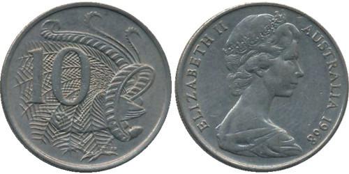 10 центов 1968 Австралия