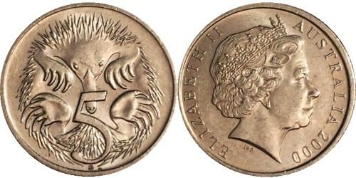 5 центов 2000 Австралия