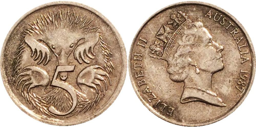 5 центов 1987 Австралия