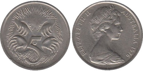 5 центов 1976 Австралия