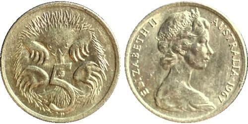 5 центов 1967 Австралия