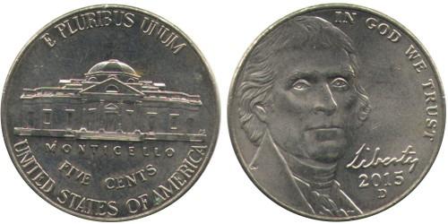 5 центов 2015 D США