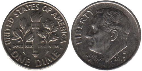 10 центов 2015 D США