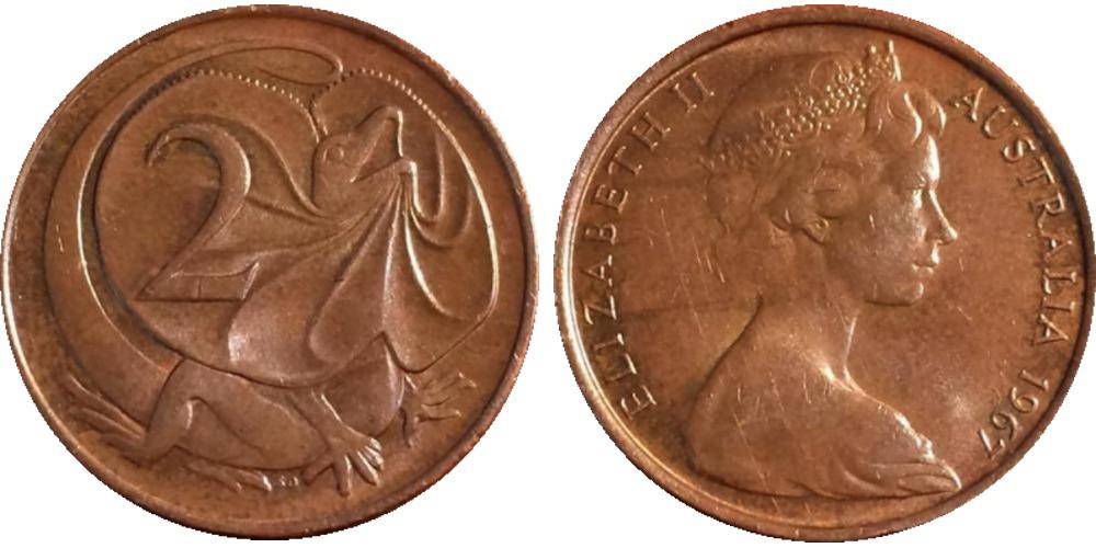 2 цента 1967 Австралия