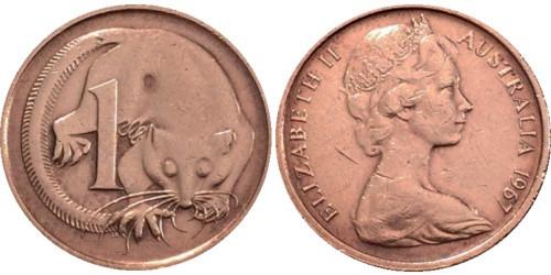 1 цент 1967 Австралия