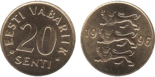 20 сентов 1996 Эстония
