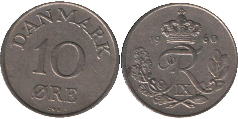 10 эре 1960 Дания