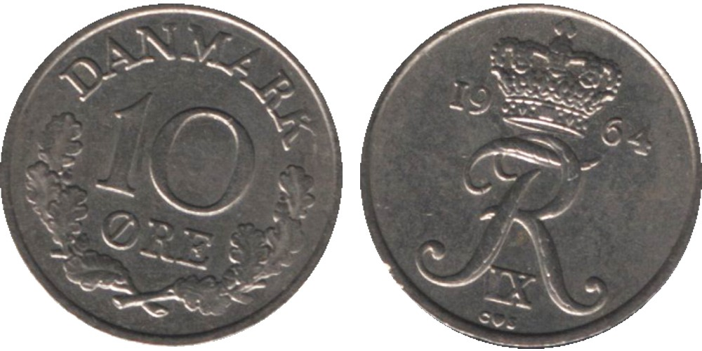 10 эре 1964 Дания