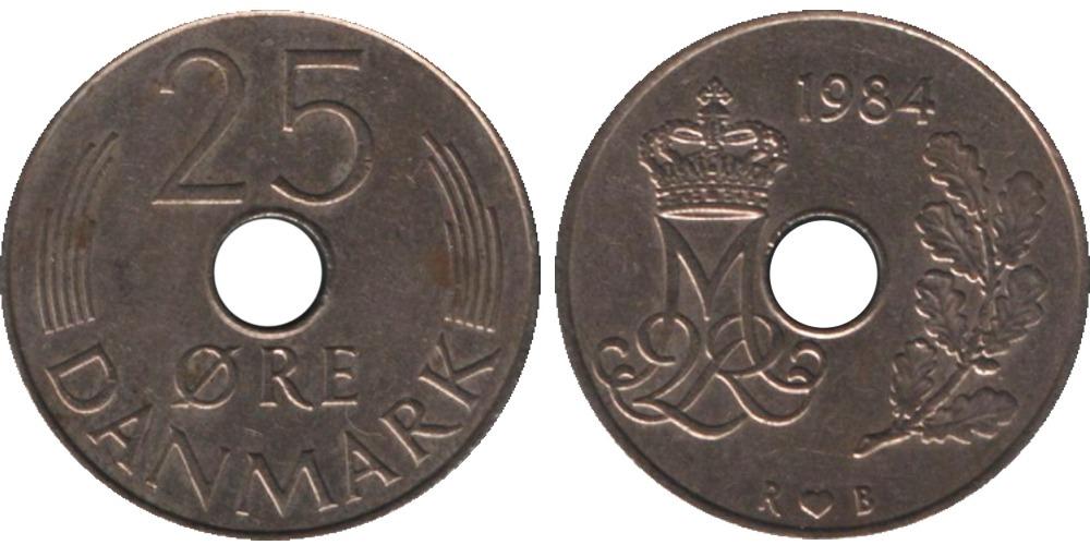 25 эре 1984 Дания