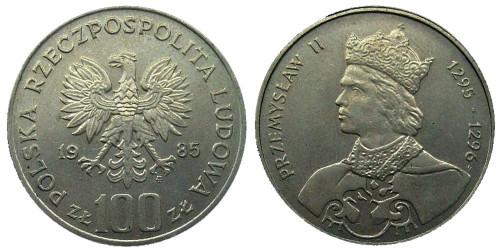 100 злотых 1985 Польша — Польские правители — Король Пшемыслав II