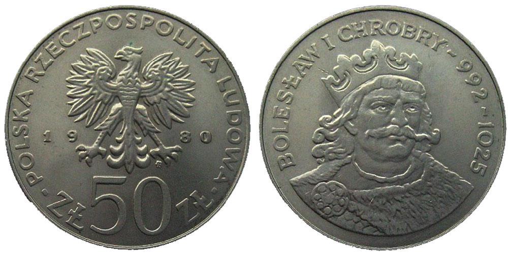 50 злотых 1980 Польша — Польские правители — Князь Болеслав I Храбрый
