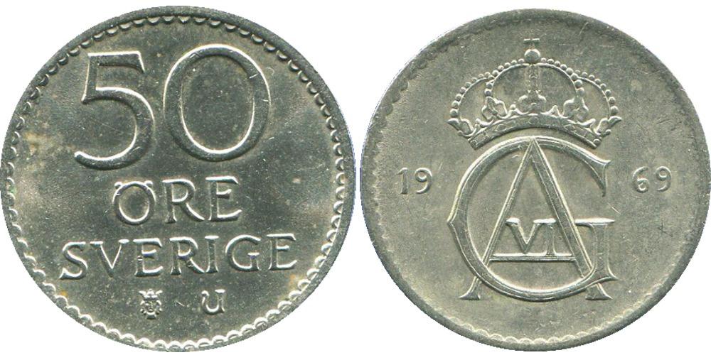 50 эре 1969 Швеция