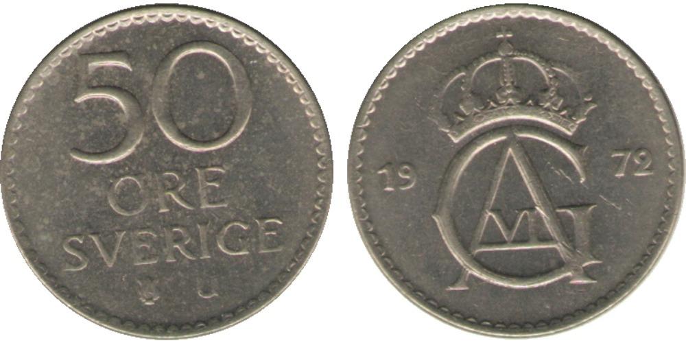 50 эре 1972 Швеция